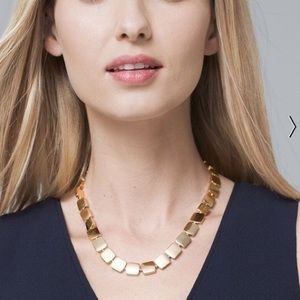 """WHBM Gold Block Necklace 18"""""""